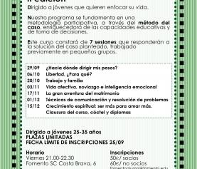 Curso de Orientación Familiar para jóvenes 2017